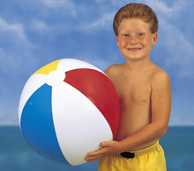 "24"" 4 Color Classic Beach Ball - Glossy"