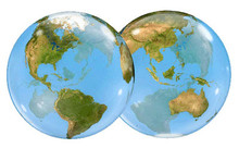 "22"" Earth Globe Balloon - Plastic"