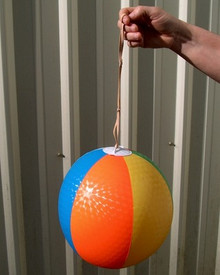"14"" Embossed ""Punching"" Beach Ball - Vintage 1960`s"