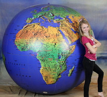 "108"" Inflatable Earth Globe - Topographical - SUPER DUTY!"