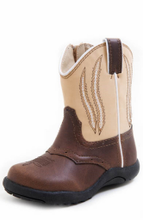 Roper Infant Boots, Brown w/ Tan Top
