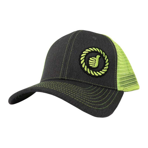 Men's Dally Up Snapback Cap, Gray/Neon Yellow w/ Logo