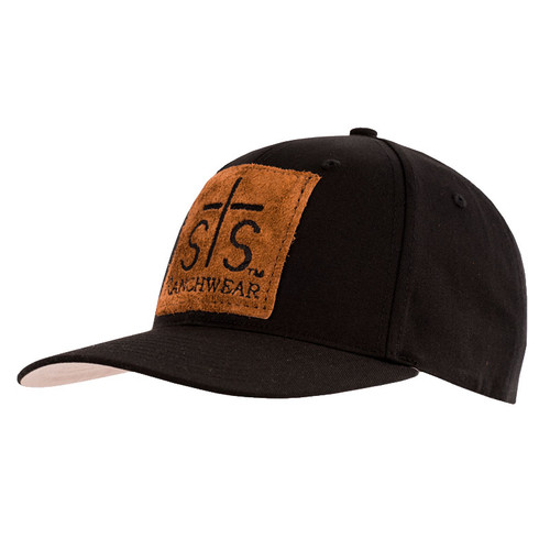 Men's STS Cap, Black with Leather STS Patch