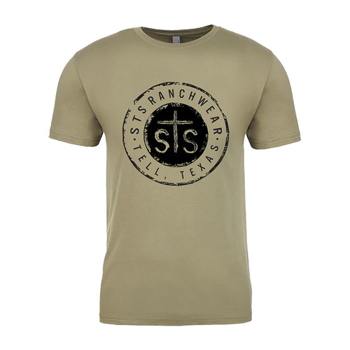 Men's STS Tee, Olive with Logo