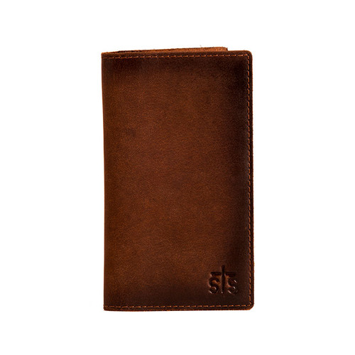 Men's STS Wallet, Long Bi-Fold, Brown, Foreman's