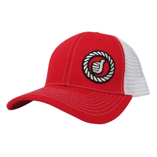 Men's Dally Up Cap, Red/White, Round Logo, Snapback