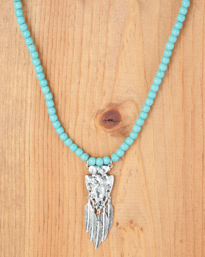 West & Co. Necklace, Turquoise Beads, Arrowhead Charm