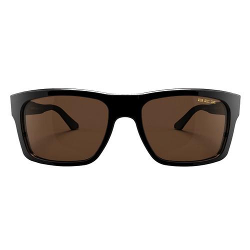 Bex Sunglasses, Black Frame, Brown Lens, Braddish