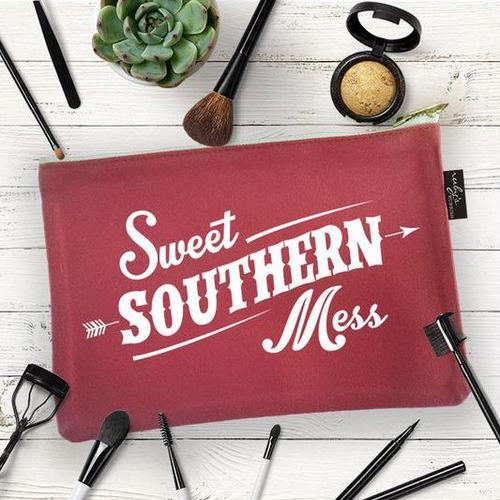 "Women's Ruby's Rubbish Makeup Bag, ""Sweet Southern Mess"""