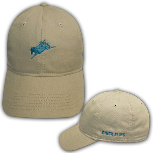 Men's Ouray Cap, Khaki with Turquoise BB Rider, Chick Elms