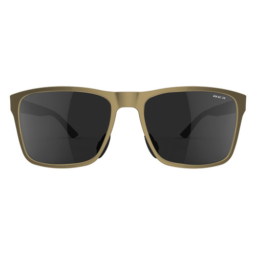 Bex Sunglasses, Rose Gold Frame with Gray Lens, Rockyt