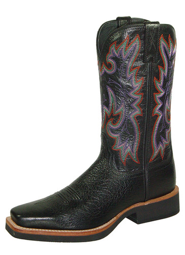 Women's Twisted X Boot, Black w/ Purple Stitch