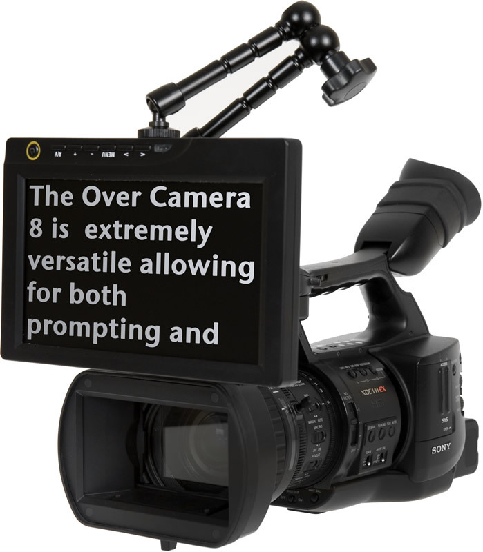 over camera teleprompters prompter people