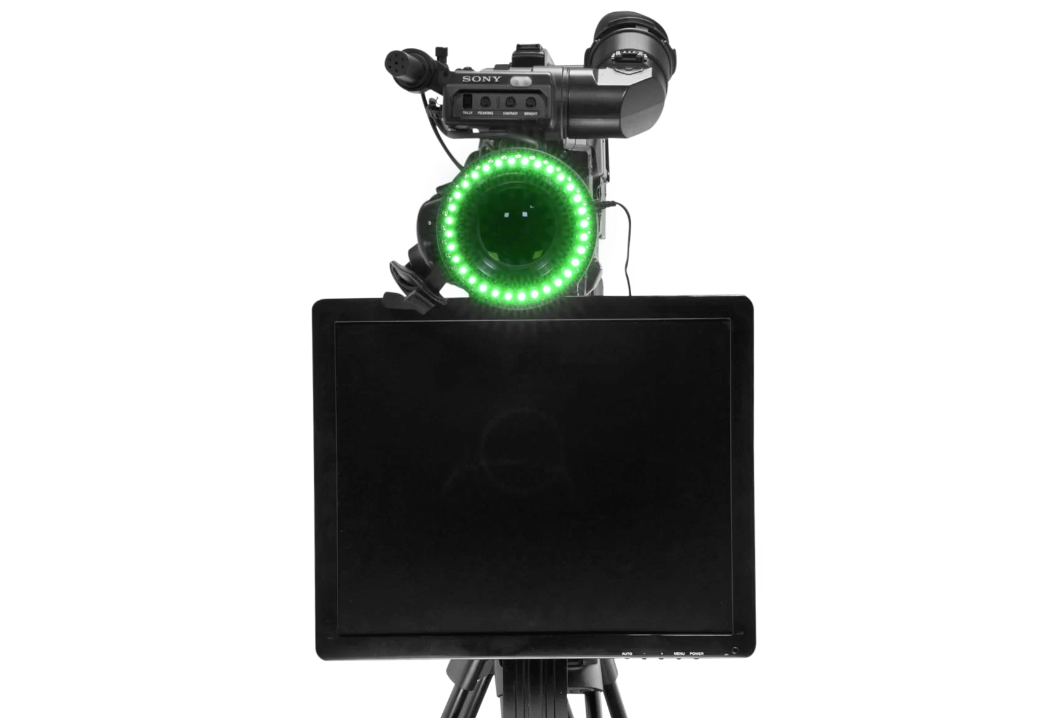 Undercamera Teleprompter - PrompterPeople with Freesoftware - Front