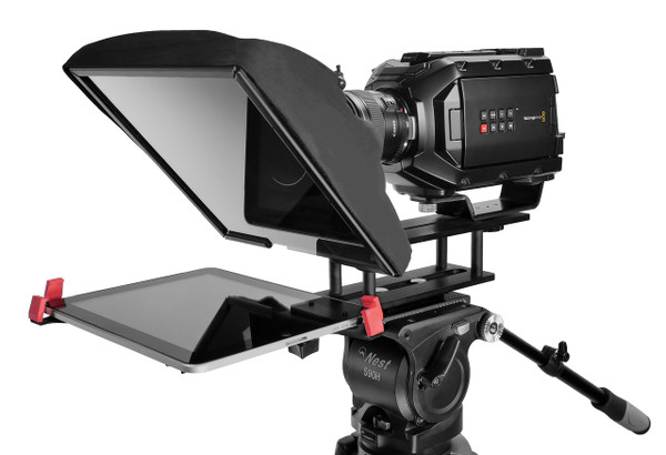 "UltraLight 10"" iPAD Teleprompter Angled"