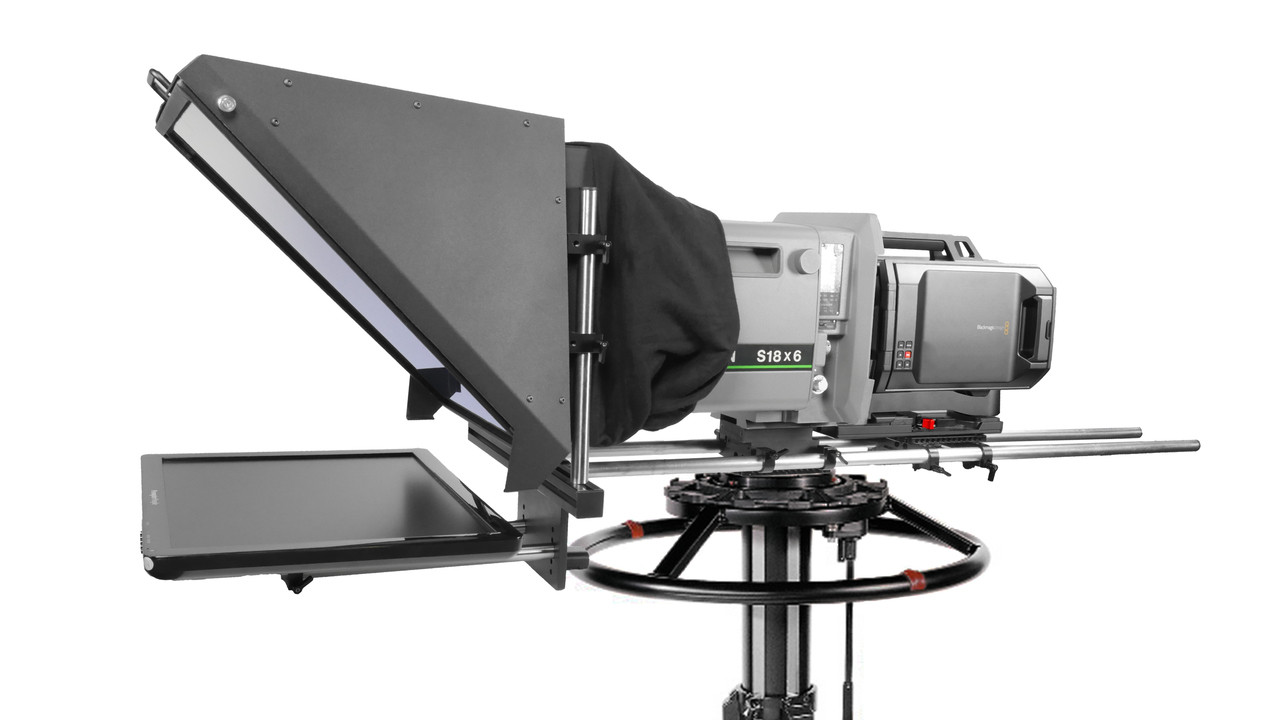 PrompterPeople Broadcast Pro 20 Auto-Reversing 400 NIT Box Lens Teleprompter