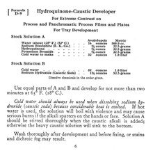 Hydroquinone-Caustic Developer Formula D-9 - Free Download