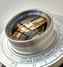 Kodak 14 Inch f/6.3 Commercial Ektar Lens in No. 5 Ilex Universal Synchro Shutter
