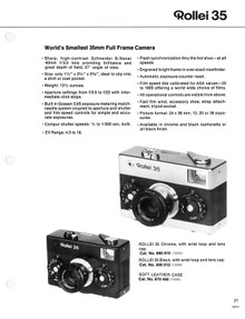 Rollei 35 - 1976 Sales Sheets - Free Download