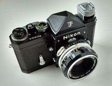 Nikon F 35mm Single-Lens Reflex Camera with Eye-level Prism Finder, Nippon Kogaku Japan NIKKOR-H Auto 1:2 f=50mm Lens