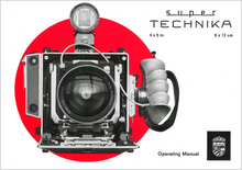 Linhof Super Technika 4x5 inch Operating Manual — PDF Download