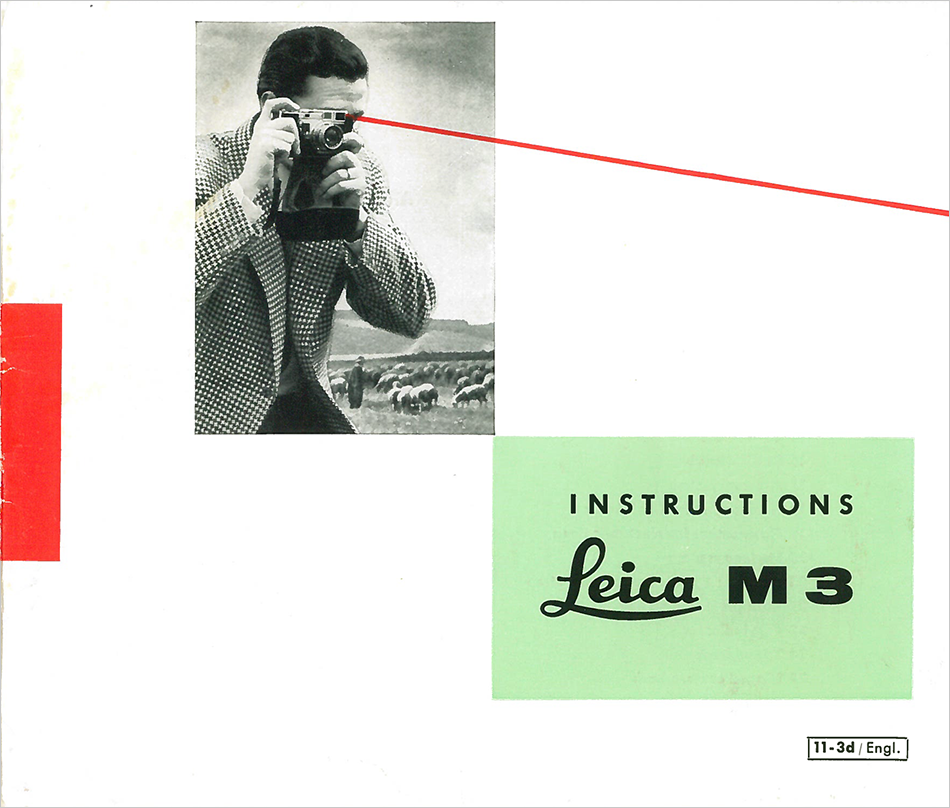 Leica M3 Rangefinder Camera Quick View Instructions From Surplus