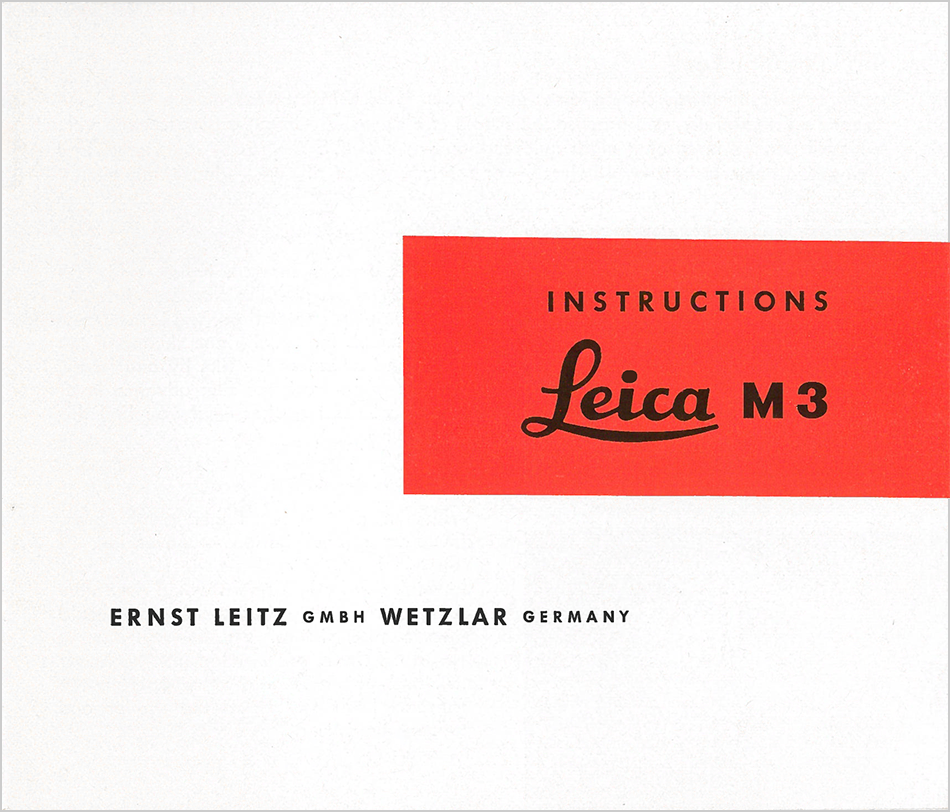 Leica M3 Rangefinder Camera Detailed Instructions From Surplus