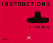 Instructions Leica M5 — PDF Download