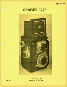 SECTION 23 - Graflex 22 Twin-Lens Reflex Camera Service Instructions & Parts Catalog - Free Download