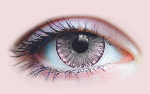Crystalline Lilac Contact Lenses