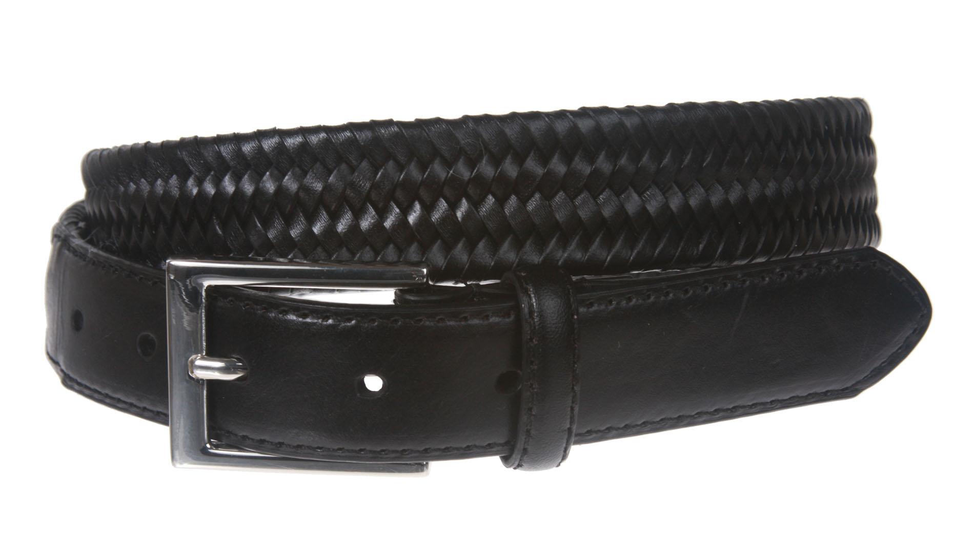 s comfort stretch braided leather belt 3 ebay