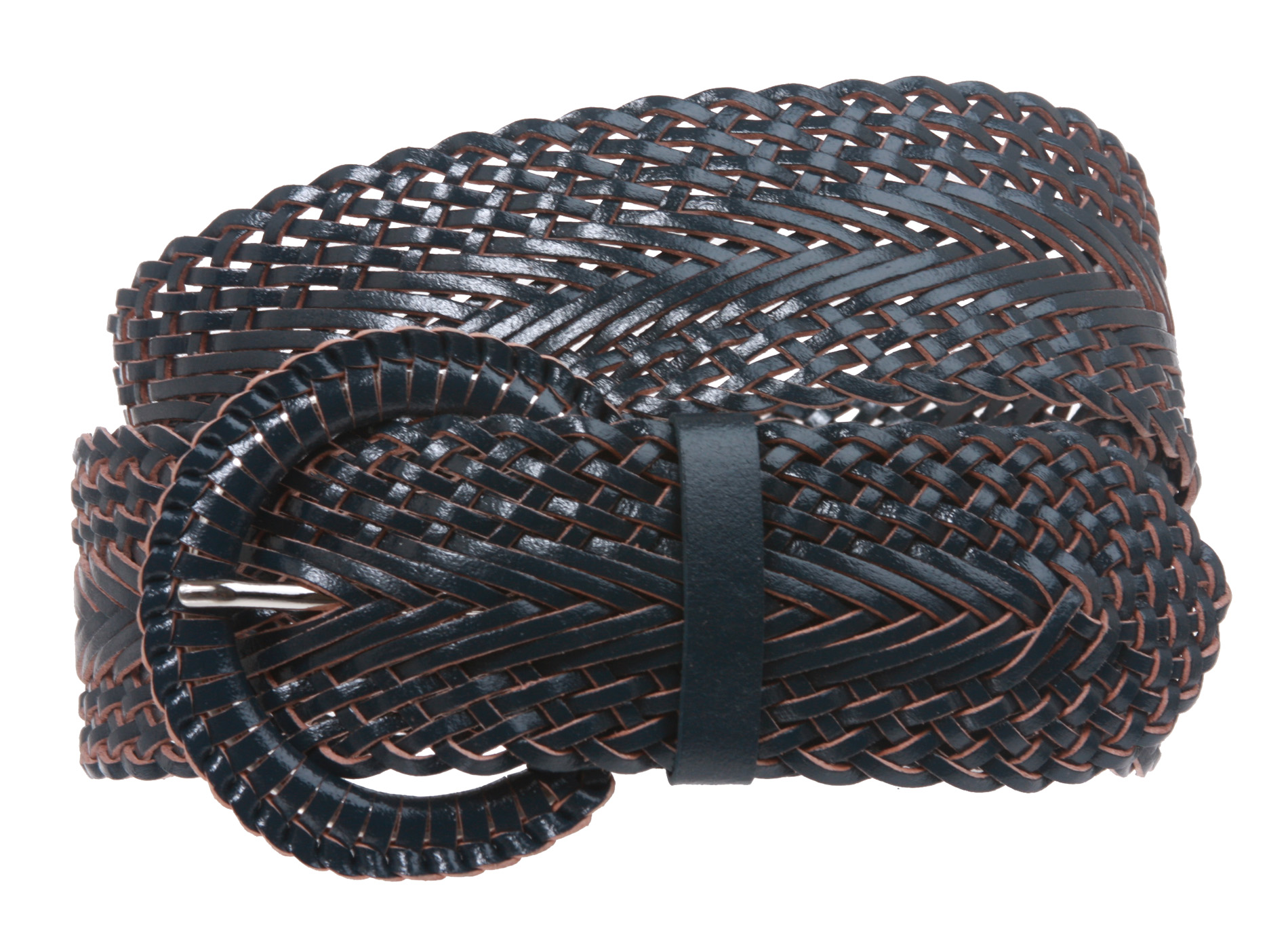 2 inch wide genuine leather braided woven belt ebay
