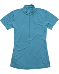 Haglofs Ridge SS Zip Tee - Peacock