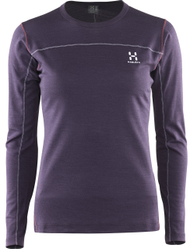 Haglofs Actives Blend Roundneck Womens - Acai Berry