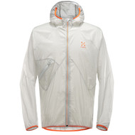 Haglofs LIM Shield Comp Hood Men - Haze, an extremely lightweight and breathable hooded jacket.