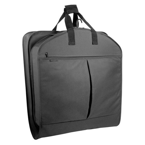 Black style 854 garment bag folded