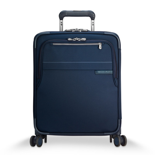 Baseline International carry-on expandable wide body spinner in navy
