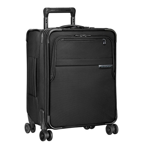 Baseline International carry-on expandable wide body spinner in black