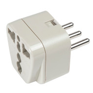 Italy adapter plug - grounded accepts all 2-prong and 3-prong North American plugs.