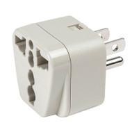 North American adapter plug - grounded accepts all other countries 2-prong and 3-prong plugs.