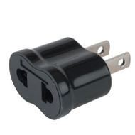 North America/Japan adapter plug - non-grounded accepts all other countries 2-prong plugs.
