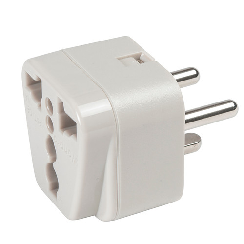 Denmark Adapter Plug - Grounded accepts 2-prong and 3-prong North American plugs.