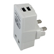 UK Adapter Plug with two USB ports