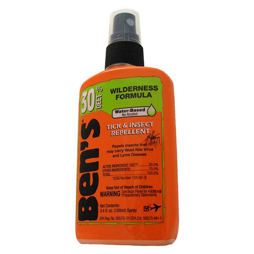 Ben's 30% DEET in a 3.4 oz. pump spray bottle