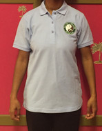 Blue Polo Shirt with Logo  - LADIES