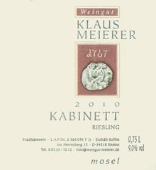 2010 Klaus Meierer Riesling Kabinett Kestener Paulinsberg