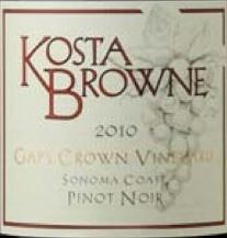 2010 Kosta Browne Pinot Noir Gap's Crown Vineyard