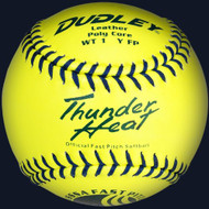 Dudley 4U-531 Yellow 11 inch Leather USSSA Fast Pitch Softballs (1 dozen)
