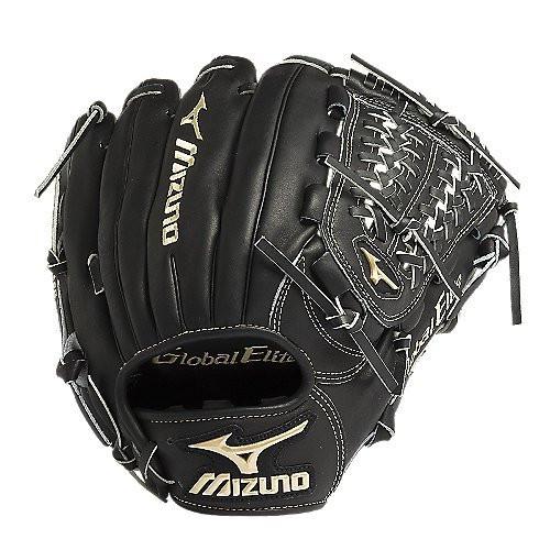Mizuno GGE5VBK Global Elite VOP Baseball Fielder's Mitt (Black 11.75 Inch) (Right Handed Throw)