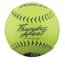 "Dudley .40 Core Classic W Thunder Heat 325lb 11"" Yellow Softballs Cover Synthetic 1 Doz USSSA Softballs"